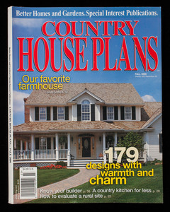 Country house plans, 179 designs with warmth and charm, fall 2000, Better Homes and Gardens
