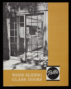 Wood sliding glass doors, Pella Products, Rolscreen Company, Pella, Iowa