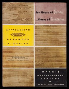For Floors Of Beauty Permanence Alachian Hardwood Flooring Harris Manufacturing Company Johnson City Tennessee
