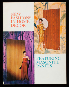New fashions in home decor featuring Masonite panels, by Maxine Livingston, Masonite Corporation, Masonite Building, 29 North Wacker Drive, Chicago, Illinois