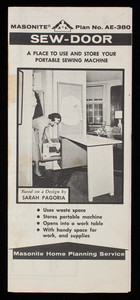 Sew-door, a place to use and store your portable sewing machine, Masonite Corporation, Masonite Building, 29 North Wacker Drive, Chicago, Illinois