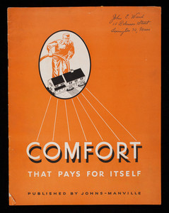 Comfort that pays for itself, published by Johns-Manville Corp., 22 East Fortieth Street, New York, New York