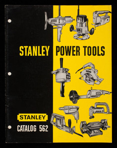 Stanley Power Tools, Stanley catalog 562, division of the Stanley Works, New Britain, Connecticut
