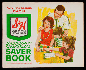 S & H Greet Stamps quick saver book, the Sperry and Hutchinson Company, New York, New York