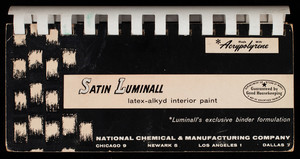 Satin Luminall latex-alkyd interior paint, National Chemical & Manufacturing Company, Chicago, Illinois