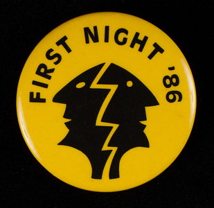 Button, First Night '86, First Night Boston, Boston, Mass.