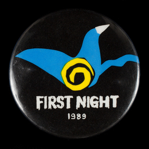 Button, First Night 1989, First Night Boston, Boston, Mass.