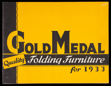 Gold Medal Quality Folding Furniture for 1933, Gold Medal Folding Furniture Company, Racine, Wisconsin