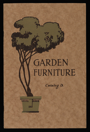 Garden furniture, catalog D, Architectural Decorating Co., 1600-1608 South Jefferson Street, Chicago, Illinois