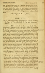 1807 Chap. 0086. An act to incorporate the Proprietors of a New Meeting house, in the Fourth Parish in Newbury, in the County of Essex.