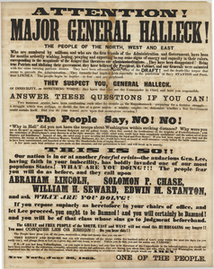 Attention! Major General Halleck!