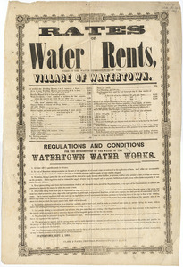 Rates of water rents : fixed by the water commissioners of the village of Watertown.