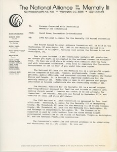 1982 National Alliance for the Mentally Ill Convention