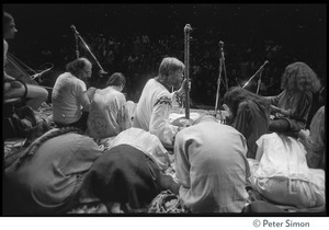 Amazing Grace performing at Zellerbach Hall, U.C. Berkeley, with Allen Ginsberg (view from rear of stage)