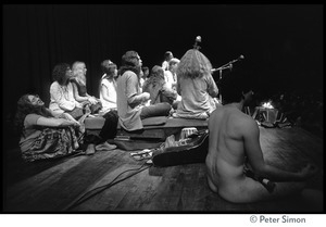 Amazing Grace performing at Zellerbach Hall, U.C. Berkeley, with Allen Ginsberg (view from stage right)