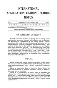 Eleventh Catalogue of the International Young Men's Christian Association Training School, 1896