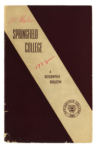 The Springfield College Bulletin, 1938