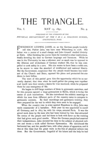 The Triangle, May, 1891