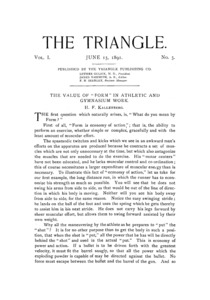 The Triangle, June, 1891