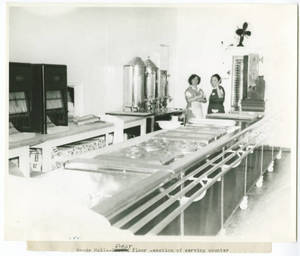 Woods Hall Serving Counter, 1943