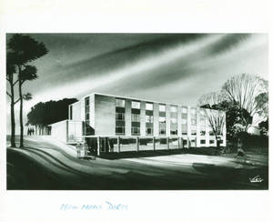 Architect's Drawing of Massasoit Hall c. 1958