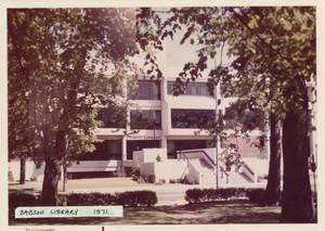 Front of Babson Library, 1971