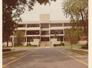 Babson Library from Hickory Street