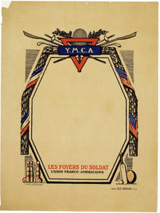 World War I poster - Les Foyers du Soldat, L'Union Franco-Americaine