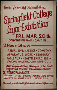 SC Gymnastics Exhibition Team Poster, Camden (March 20, 1942)