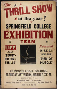 SC Gymnastics Exhibition Team Poster, Hudson NY (March 7, 1942)