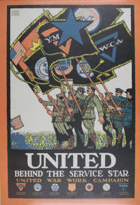 United Behind the Service Star poster (c. 1918)
