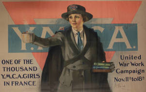 YMCA Worker in France poster (c. 1918)