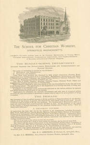 School for Christian Workers Announcements
