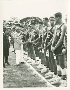 1965 Far East Tour, Springfield College Men's Basketball Team Congratulated