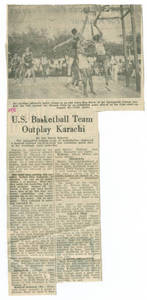 """US Basketball Team Outplays Karachi"""
