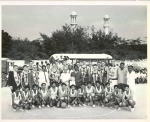 Springfield College Men's Basketball and Team From India, 1965