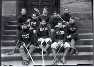 Ice Hockey Team at Springfield College, 1905
