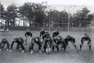 Football Team in Formation (c. 1904)