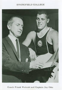 Coach Wolcott and team captain Jay Otto (c. 1965-1966)