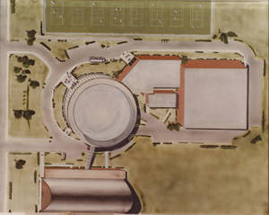 Aerial View Drawing of the Physical Education Complex