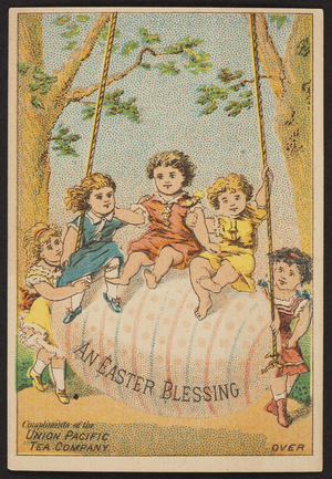 Trade card for the Union Pacific Tea Company, 79 Water Street, New York, New York, undated
