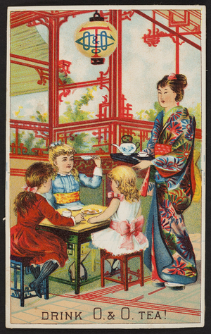 Trade card for O. &. O. Tea, location unknown, undated