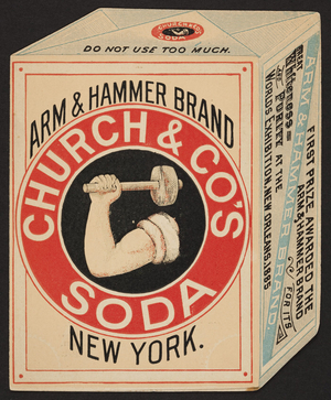 Trade card for Arm & Hammer Brand Soda and Saleratus, Church & Co's Soda, New York, New York, undated
