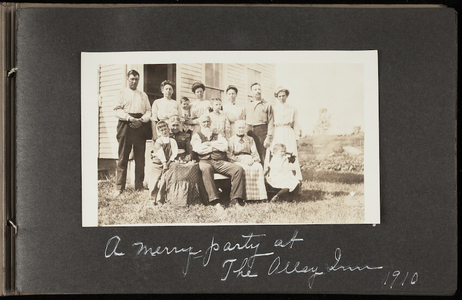 Family Album of unknown New England family in the early 1902