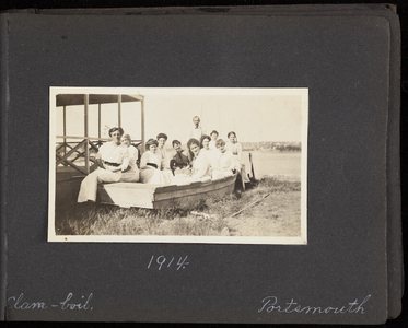 Family vacation album of unknown New England family