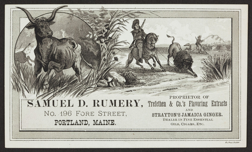 Price list for flavoring extracts, Samuel D. Rumery, No. 196 Fore Street, Portland, Maine, undated