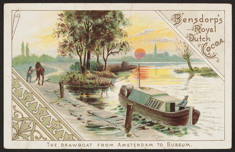 Trade card for Bensdorp's Royal Dutch Cocoa, Steph. L. Barlett, importer, Boston, Mass., undated