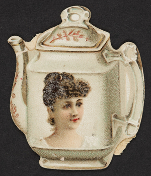 Cutout for coffeepot or teapot, location unknown, undated