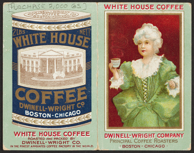 Trade card for the Dwinell-Wright Company, coffee roasters, Boston, Mass. and Chicago, Illinois, 1907
