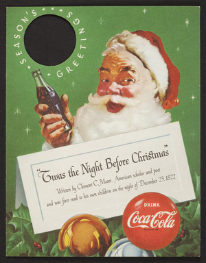 Twas the night before Christmas, Coca-Cola, location unknown, undated
